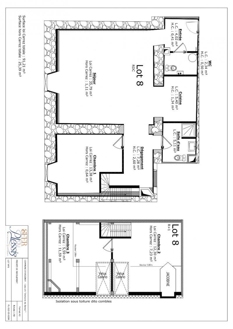 Chambre Mansardee Loi Carrez : Loi carrez chambre simple salle de bain mansarde
