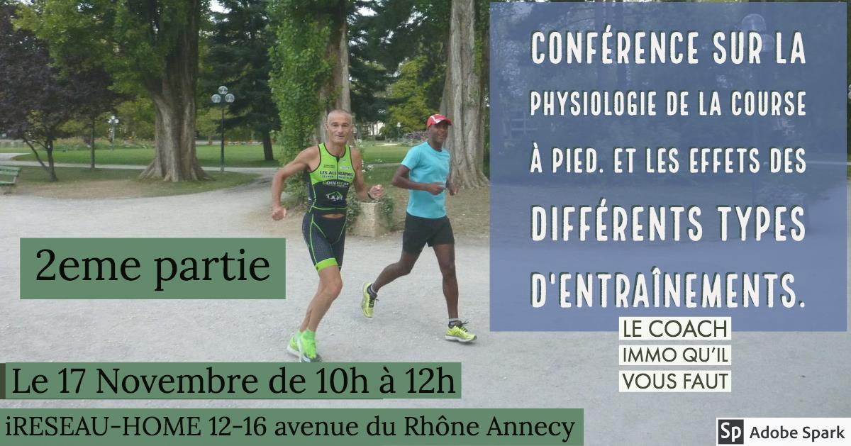Conférence sur la physiologie de la course à pied